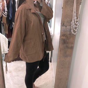 Cato size 22/24W brown faux suede boho jacket